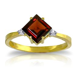 ALARRI 1.77 CTW 14K Solid Gold Immerse Yourself Garnet Diamond Ring