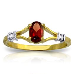 ALARRI 0.46 CTW 14K Solid Gold Revitalize Your Spirit Garnet Diamond Ring