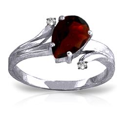 ALARRI 1.51 Carat 14K Solid White Gold Good For The Soul Garnet Diamond Ring