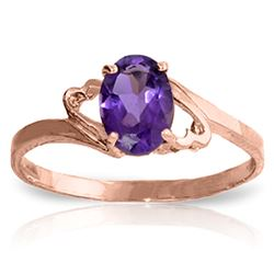 ALARRI 0.65 Carat 14K Solid Rose Gold Gigi Purple Amethyst Ring
