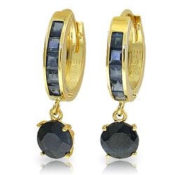ALARRI 3.3 Carat 14K Solid Gold Huggie Earrings Natural Sapphire