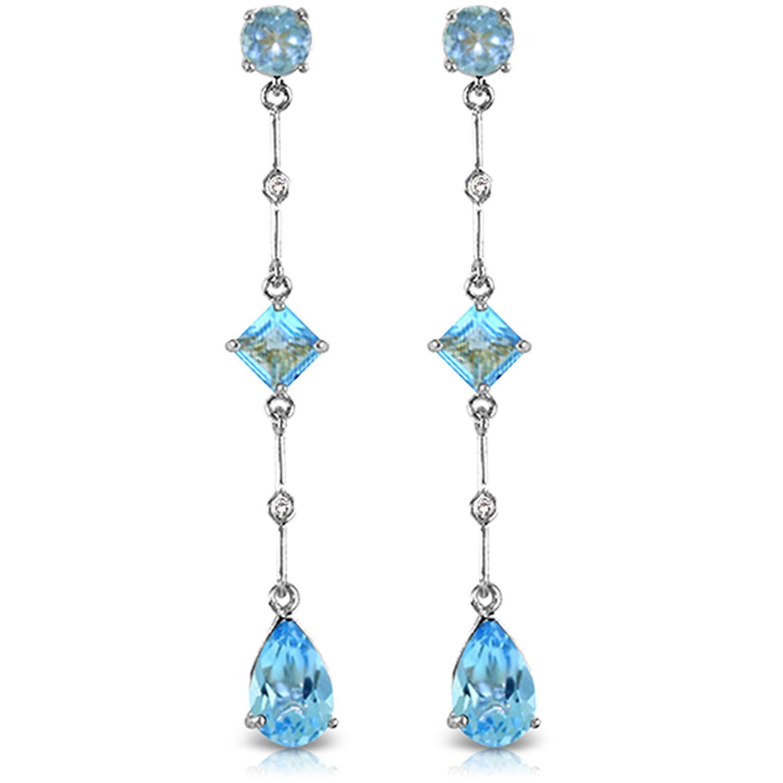 Alarri 14k white gold chandelier earring with diamond blue topazes alarri 14k solid white gold chandelier earrings w diamond blue topaz aloadofball Gallery