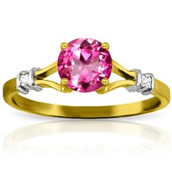 ALARRI 1.02 Carat 14K Solid Gold Pink Rocks Pink Topaz Diamond Ring