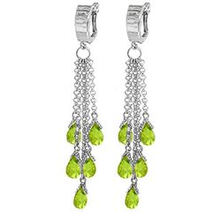ALARRI 7.3 Carat 14K Solid White Gold People Like Ourselves Peridot Earrings