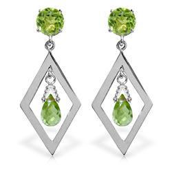 ALARRI 2.4 CTW 14K Solid White Gold At The Pier Peridot Earrings