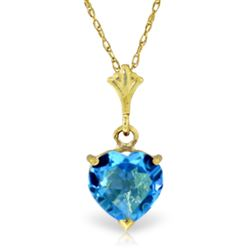 ALARRI 1.15 CTW 14K Solid Gold Paradox Blue Topaz Necklace