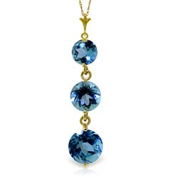 ALARRI 3.6 Carat 14K Solid Gold Bluejay Blue Topaz Necklace