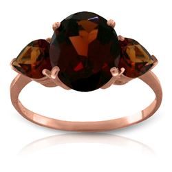 ALARRI 4.1 CTW 14K Solid Rose Gold Bounty Garnet Ring