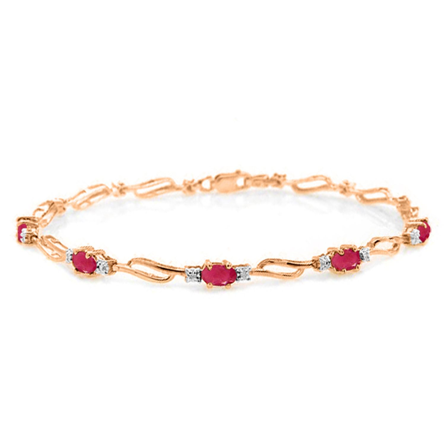 and oval in diamond image gold white bracelet ruby