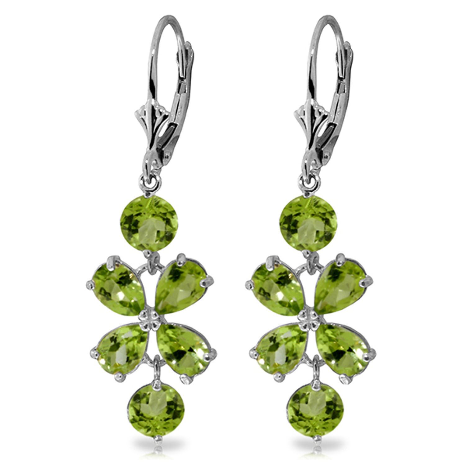 ebf2869d8 ALARRI 14K. White Gold Chandeliers Earring with Natural Peridots