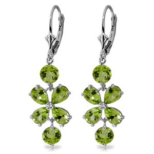 ALARRI 5.32 Carat 14K Solid White Gold Wharton Peridot Earrings