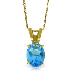 ALARRI 0.85 Carat 14K Solid Gold Sheltering Sky Blue Topaz Necklace