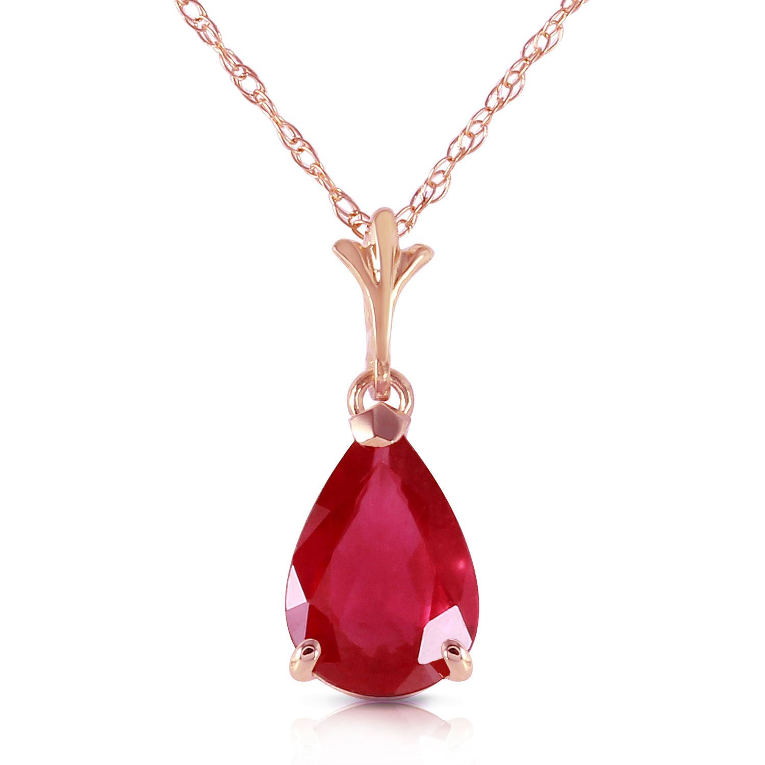 ruby pendant heart necklace diamonds white with gold