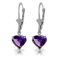 ALARRI 3.25 Carat 14K Solid White Gold First Time Amethyst Earrings