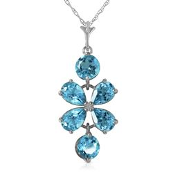 ALARRI 3.15 Carat 14K Solid White Gold Dare To Dream Blue Topaz Necklace