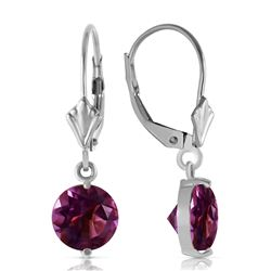 ALARRI 3.1 Carat 14K Solid White Gold Gifted Amethyst Earrings