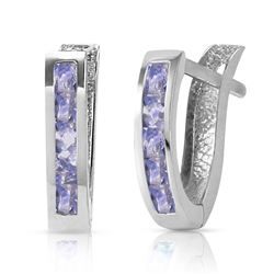 ALARRI 0.95 Carat 14K Solid White Gold Consequences Tanzanite Earrings