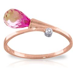 ALARRI 1.26 CTW 14K Solid Rose Gold Giggle Pink Topaz Diamond Ring