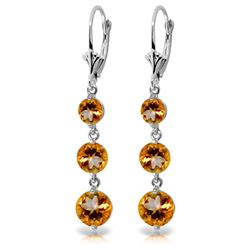 ALARRI 7.2 Carat 14K Solid White Gold Chance Meeting Citrine Earrings