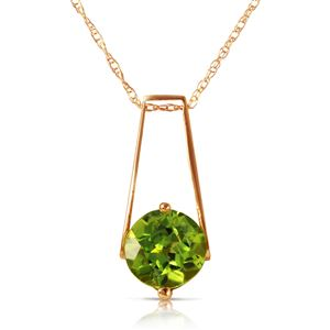ALARRI 1.45 Carat 14K Solid Rose Gold Lullaby Peridot Necklace