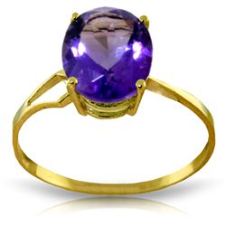 ALARRI 2.2 Carat 14K Solid Gold Penchant For The Dramatic Amethyst Ring