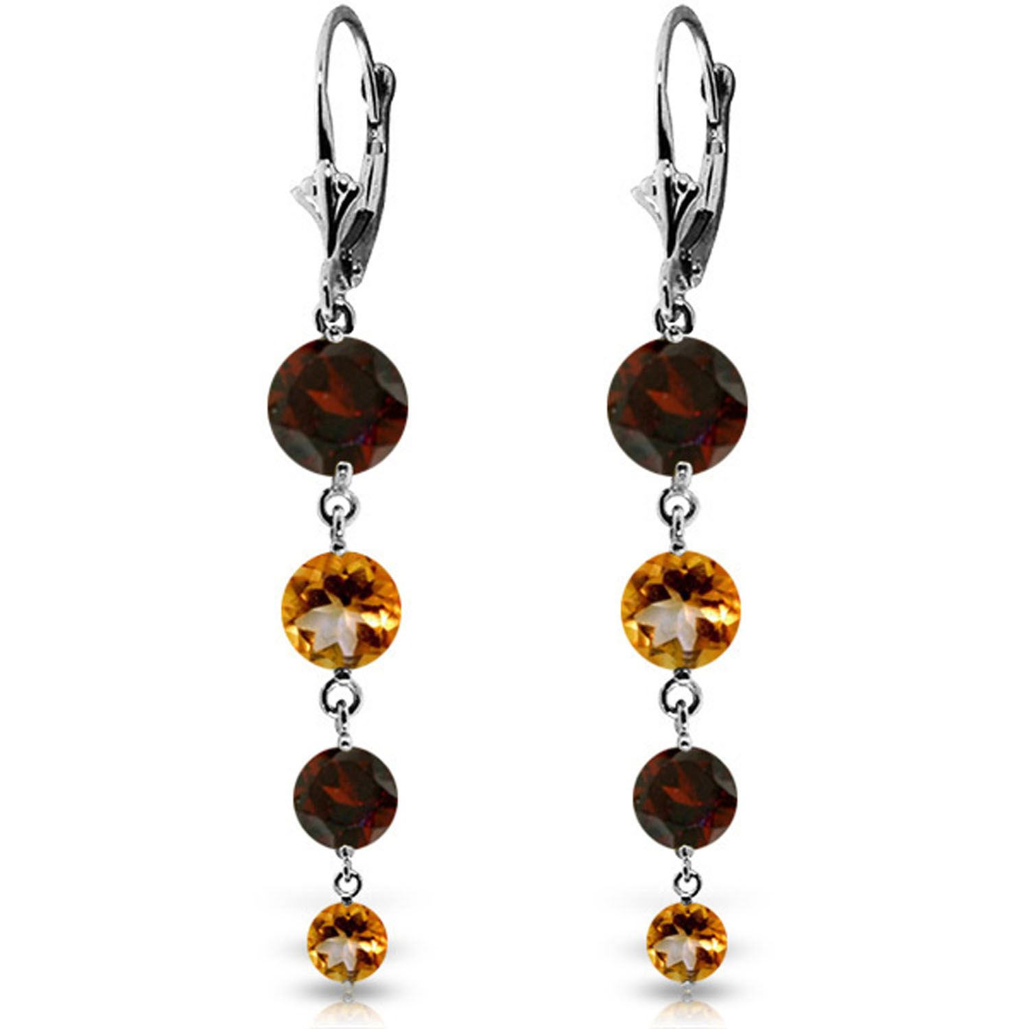 Alarri 14k white gold chandelier earring with garnets citrines alarri 78 carat 14k solid white gold watching you laugh garnet citrine earrings mozeypictures Gallery
