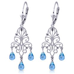 ALARRI 3.75 Carat 14K Solid White Gold Take Me Home Blue Topaz Earrings
