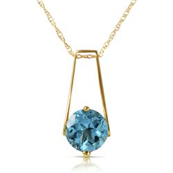 ALARRI 1.45 Carat 14K Solid Gold Love At First Light Blue Topaz Necklace