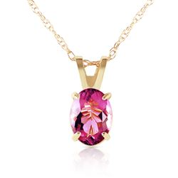 ALARRI 0.85 Carat 14K Solid Gold Heart Asks Mind Pink Topaz Necklace