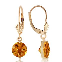ALARRI 3.1 Carat 14K Solid Gold Leverback Earrings Cirtines