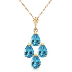 ALARRI 1.5 Carat 14K Solid Gold Not Just An Admirer Blue Topaz Necklace