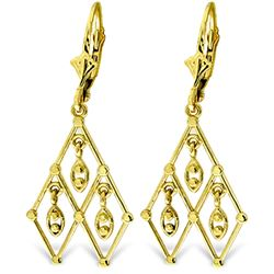 ALARRI 14K Solid Gold Magic Chandelier Earrings