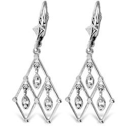 ALARRI 14K Solid White Gold We Are Chandelier Earrings