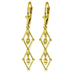 ALARRI 14K Solid Gold Luminous Chandelier Earrings