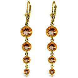 ALARRI 7.8 Carat 14K Solid Gold Drizzle Citrine Earrings