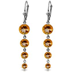 ALARRI 7.8 CTW 14K Solid White Gold Hope Will Find You Citrine Earrings