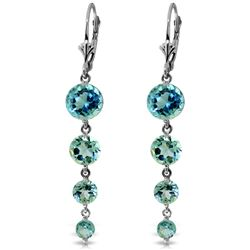 ALARRI 7.8 CTW 14K Solid White Gold Remeberance Of Love Past Blue Topaz Earrings