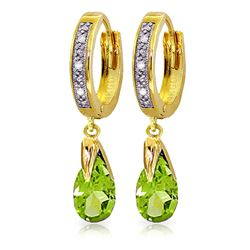 ALARRI 2.53 CTW 14K Solid Gold Marseille Peridot Diamond Earrings