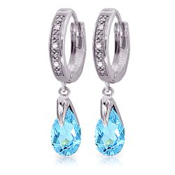 ALARRI 2.53 CTW 14K Solid White Gold I Usually Say Blue Topaz Diamond Earrings