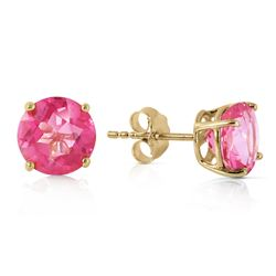 ALARRI 3.1 CTW 14K Solid Gold Precisely Why Pink Topaz Earrings