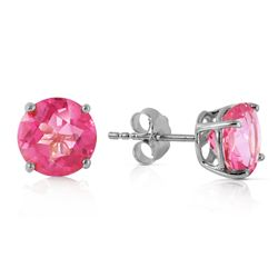 ALARRI 3.1 Carat 14K Solid White Gold Small Victories Pink Topaz Earrings