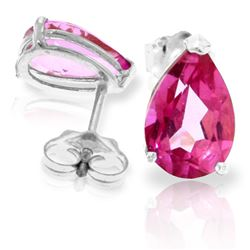 ALARRI 3.15 Carat 14K Solid White Gold Here's To You Pink Topaz Earrings