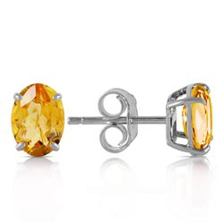 ALARRI 0.95 Carat 14K Solid White Gold Time And Tenderness Citrine Earrings