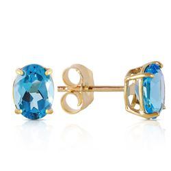 ALARRI 1.8 CTW 14K Solid Gold Will Sing For You Blue Topaz Earrings
