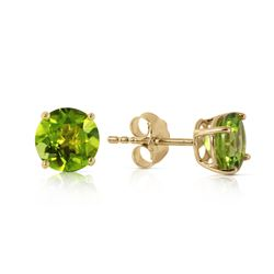 ALARRI 0.95 CTW 14K Solid Gold Fire And Determination Peridot Earrings