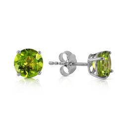 ALARRI 0.95 Carat 14K Solid White Gold I Know Why Peridot Earrings