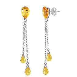ALARRI 7.5 Carat 14K Solid White Gold You Are My Home Citrine Earrings