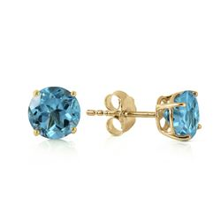 ALARRI 0.95 CTW 14K Solid Gold Honored Guest Blue Topaz Earrings