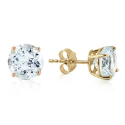 ALARRI 3.1 CTW 14K Solid Gold Anchors Away Aquamarine Earrings