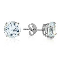 ALARRI 3.1 Carat 14K Solid White Gold Love We Share Aquamarine Earrings